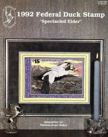 1992 Federal Duck Stamp: Spectacled Eider - Cross Stitch Pattern
