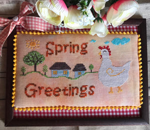 Spring Greetings - Cross Stitch Pattern