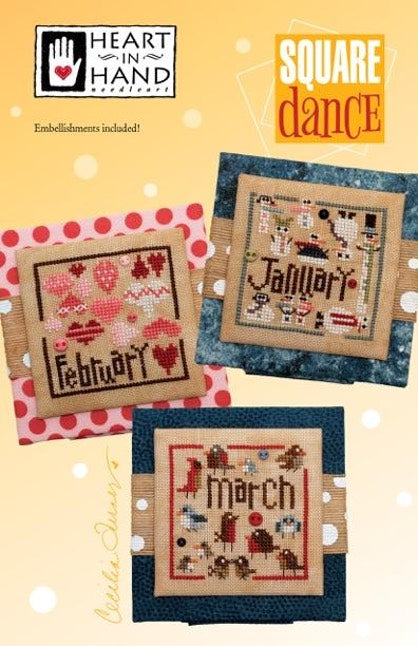 Square Dance #1 - January, February, & March - Cross Stitch Pattern