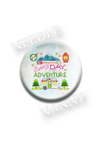 "Tiny Modernist ""Every Day is an Adventure"" Needle Nanny"
