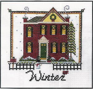 Winter on Chestnut Blvd. - Cross Stitch Pattern