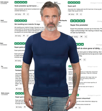 Load image into Gallery viewer, Holdningstrøje Navy T-shirt