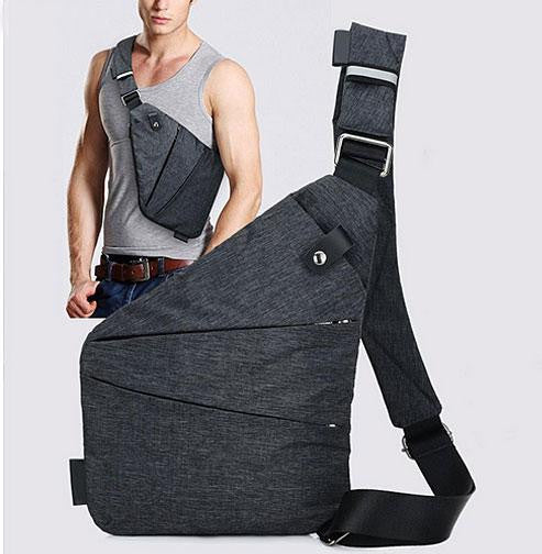 Men Canvas Anti Theft Chest Pack | ADOGADGETS