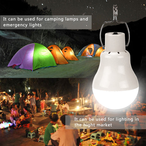 Rechargeable Solar Powered Camping LED Bulb | ADOGADGETS