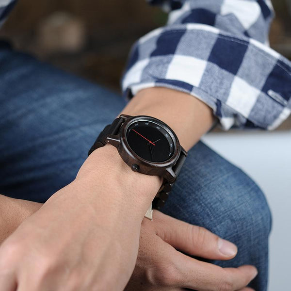Bambu Dark Wooden Watch And Strap | ADOGADGETS