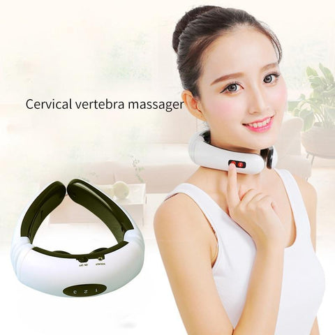 Electro-Magnetic Pulse Back and Neck Massager | ADOGADGETS