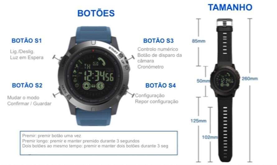 Smartwatch Tactical V3 Pt