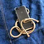 Beige iPhone 11 crossbody case