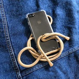 Beige iPhone XR crossbody case