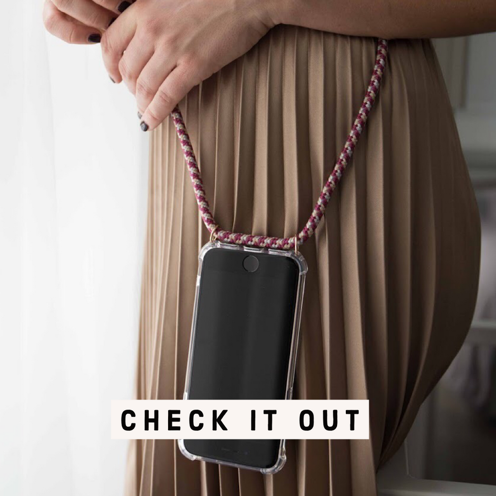 Burgundy iPhone XR crossbody case