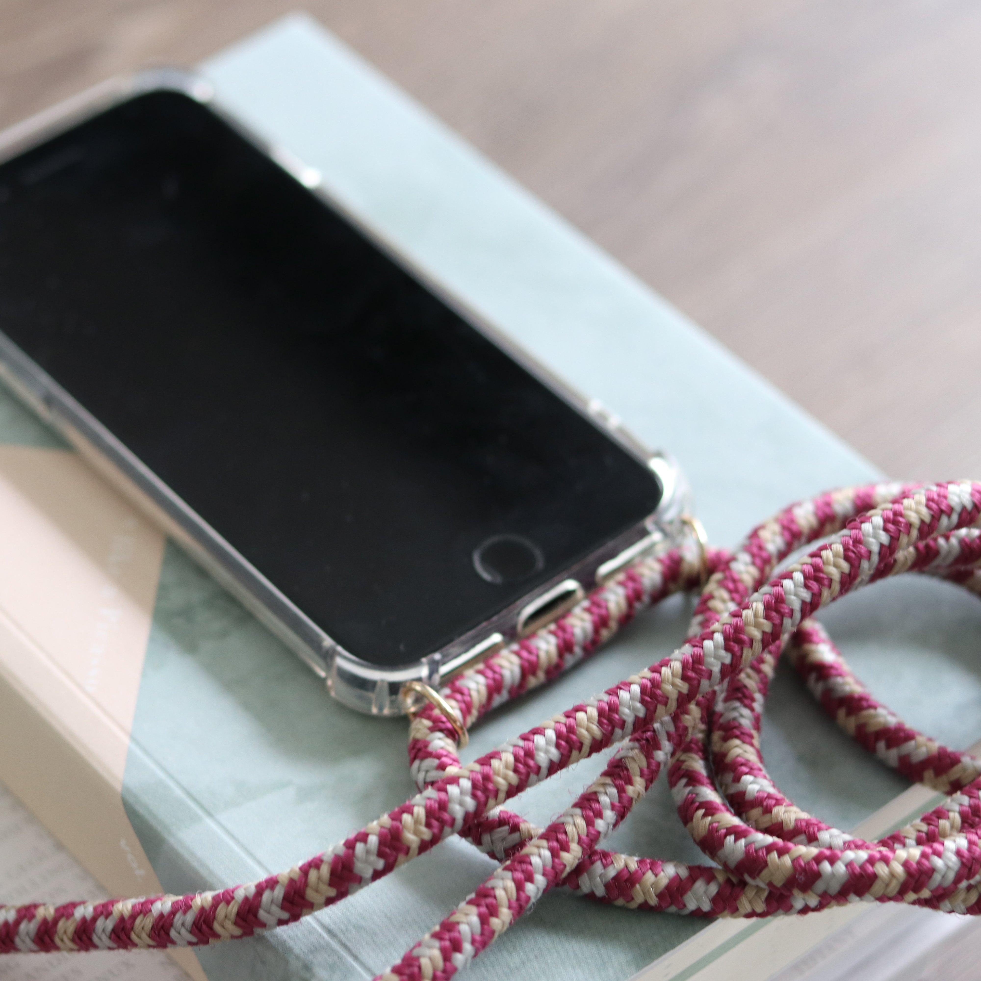 smartphone case and necklace