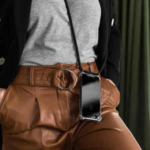 Black iPhone XR crossbody case
