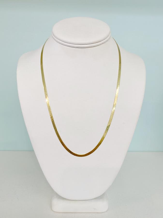 Herringbone Narrow Necklace