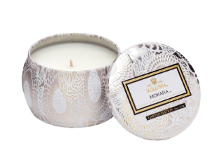 Voluspa Petite Decorative Tin Candle Mokara