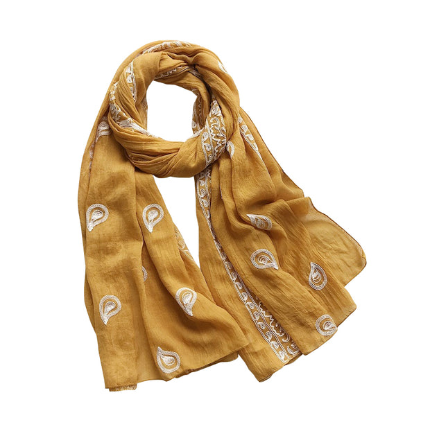Foulard cheveux Heias Orange enroulé