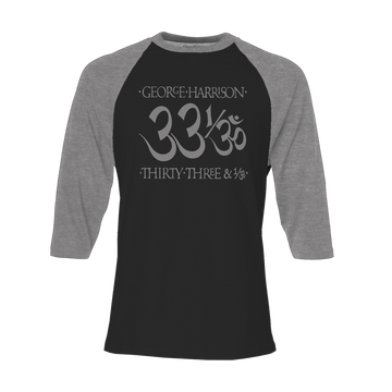 33 1/3 Black/Heather Charcoal Raglan