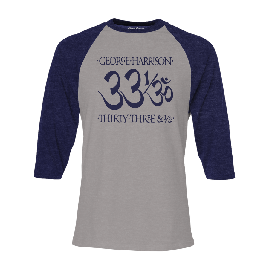 33 1/3 Navy/ Heather Grey Raglan