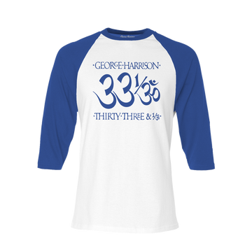 33 1/3 Royal/White Raglan