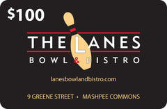 The Lanes Bowl & Bistro $100 Gift Card