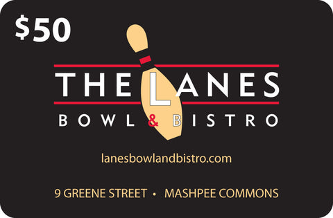 The Lanes Bowl & Bistro $50 Gift Card