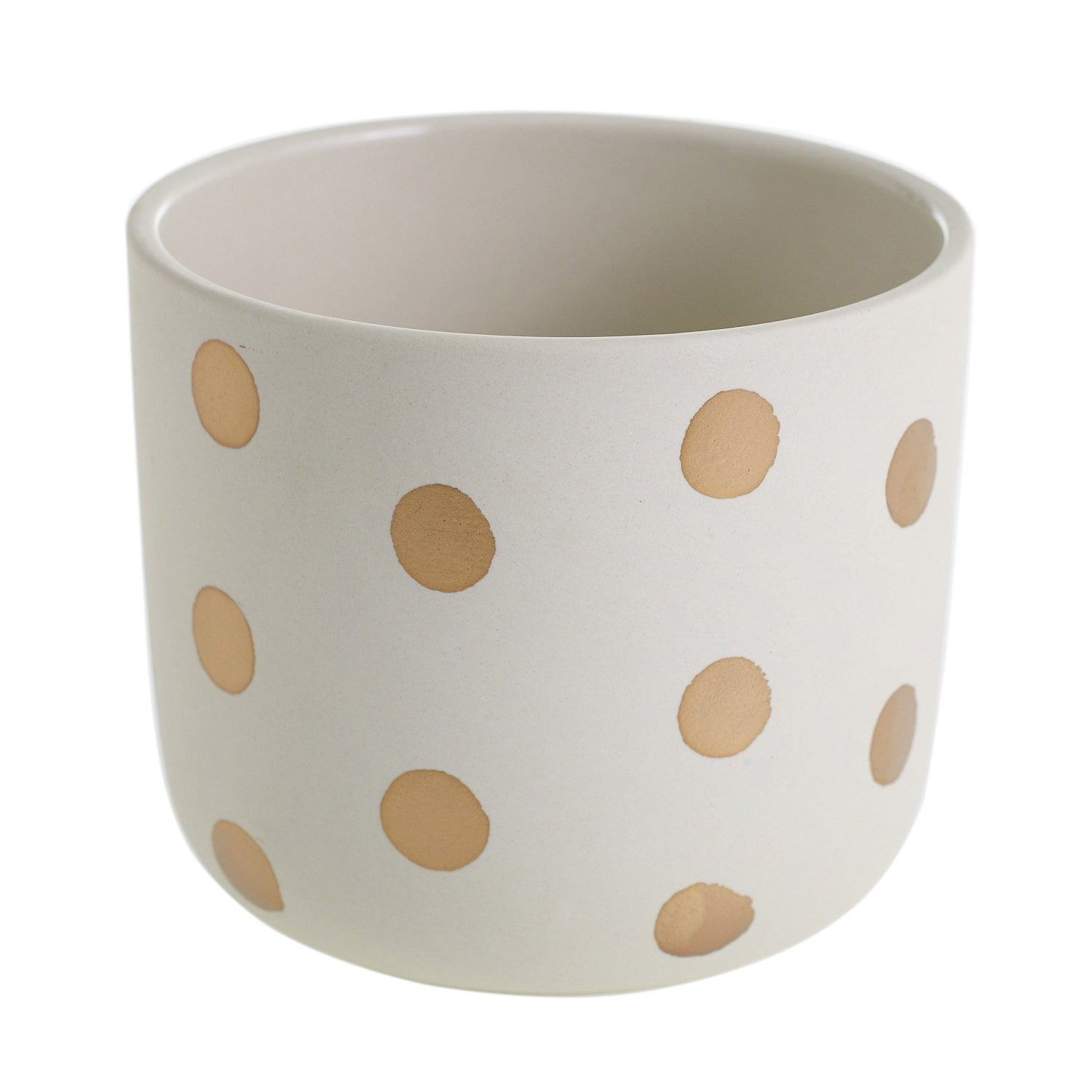 "5"" Small Dots Pot in White"
