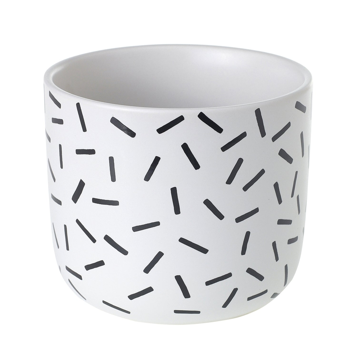 "4"" Matchstick Pot in White"