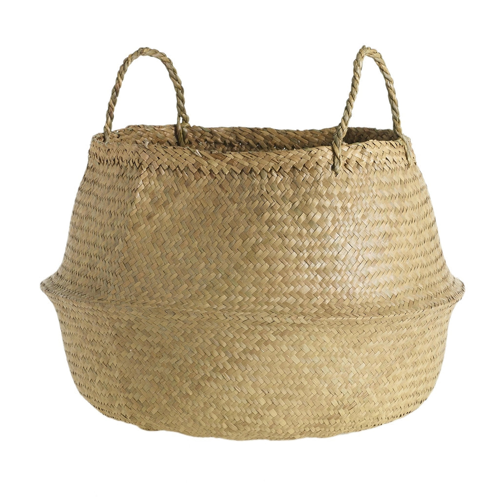 "13"" Woven Basket in Natural"
