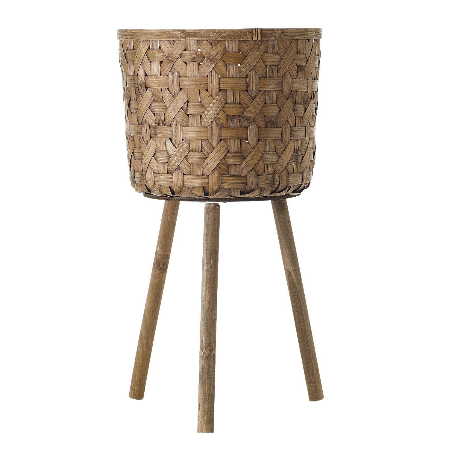 "14"" Woven Bamboo Basket Stand in Natural"