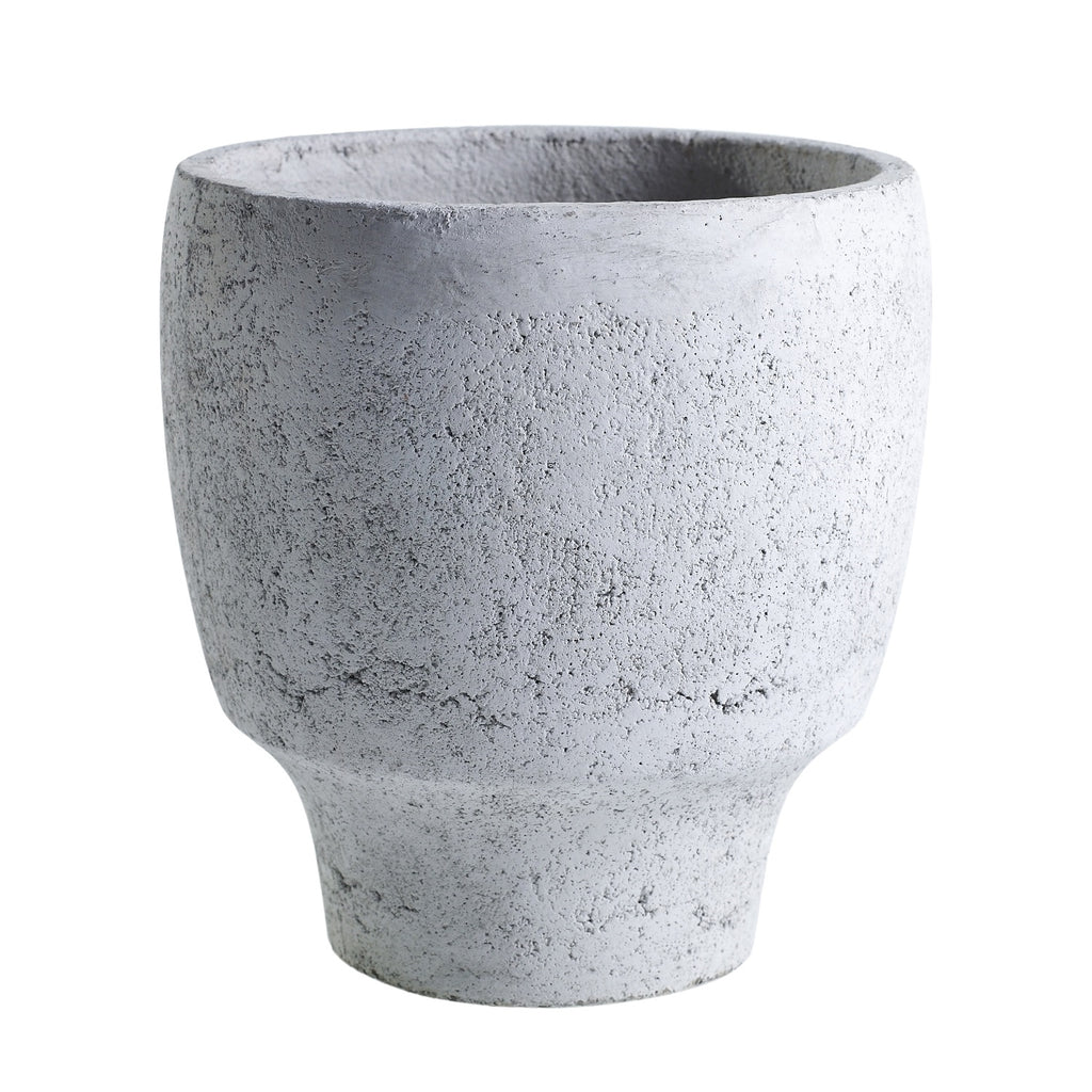 "10"" Tapered Concrete Planter in Grey"