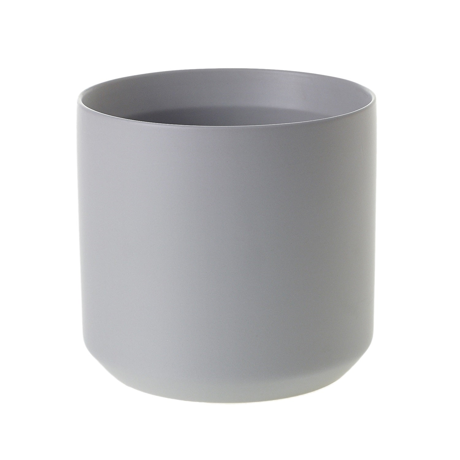"6"" Cylinder Pot in Grey"