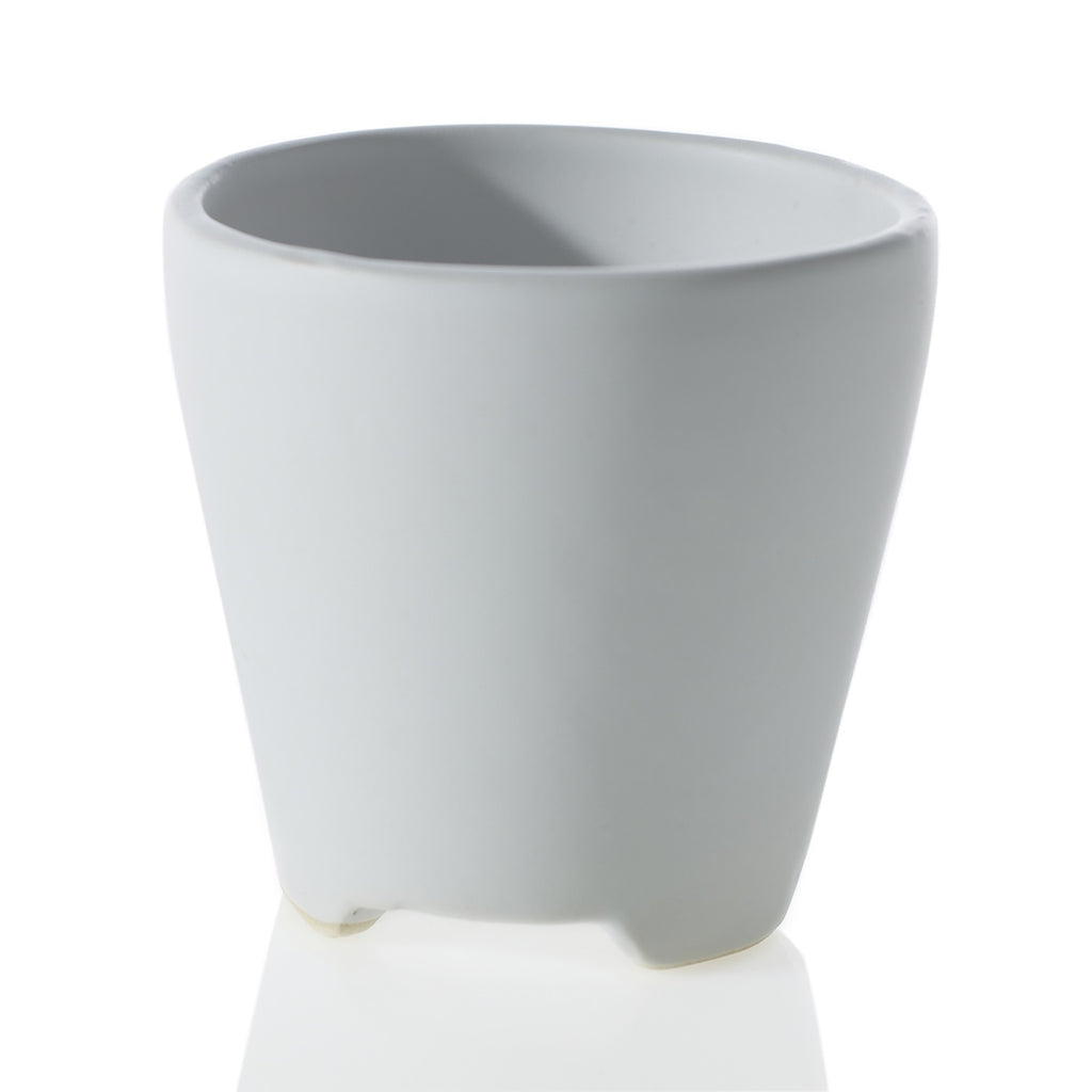"3"" Footed Planter in Matte White"