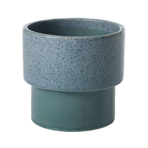 "3"" Pedestal Pot in Speckled Turquoise"