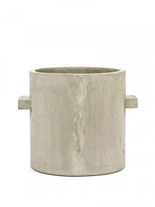 "10"" Serax Concrete Pot in Natural"