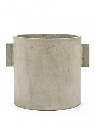 "12"" Serax Concrete Pot in Natural"
