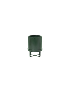 "7"" Bau Pot in Dark Green"