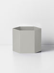 "5"" Ferm Living Hexagon Pot in Grey"