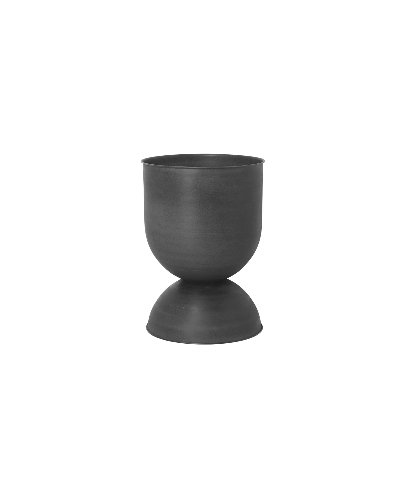 "16"" Ferm Living Hourglass Pot in Black"