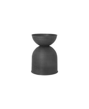 "12"" Ferm Living Hourglass Pot in Black"