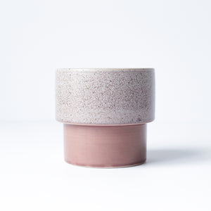"3"" Pedestal Pot in Speckled Rose"