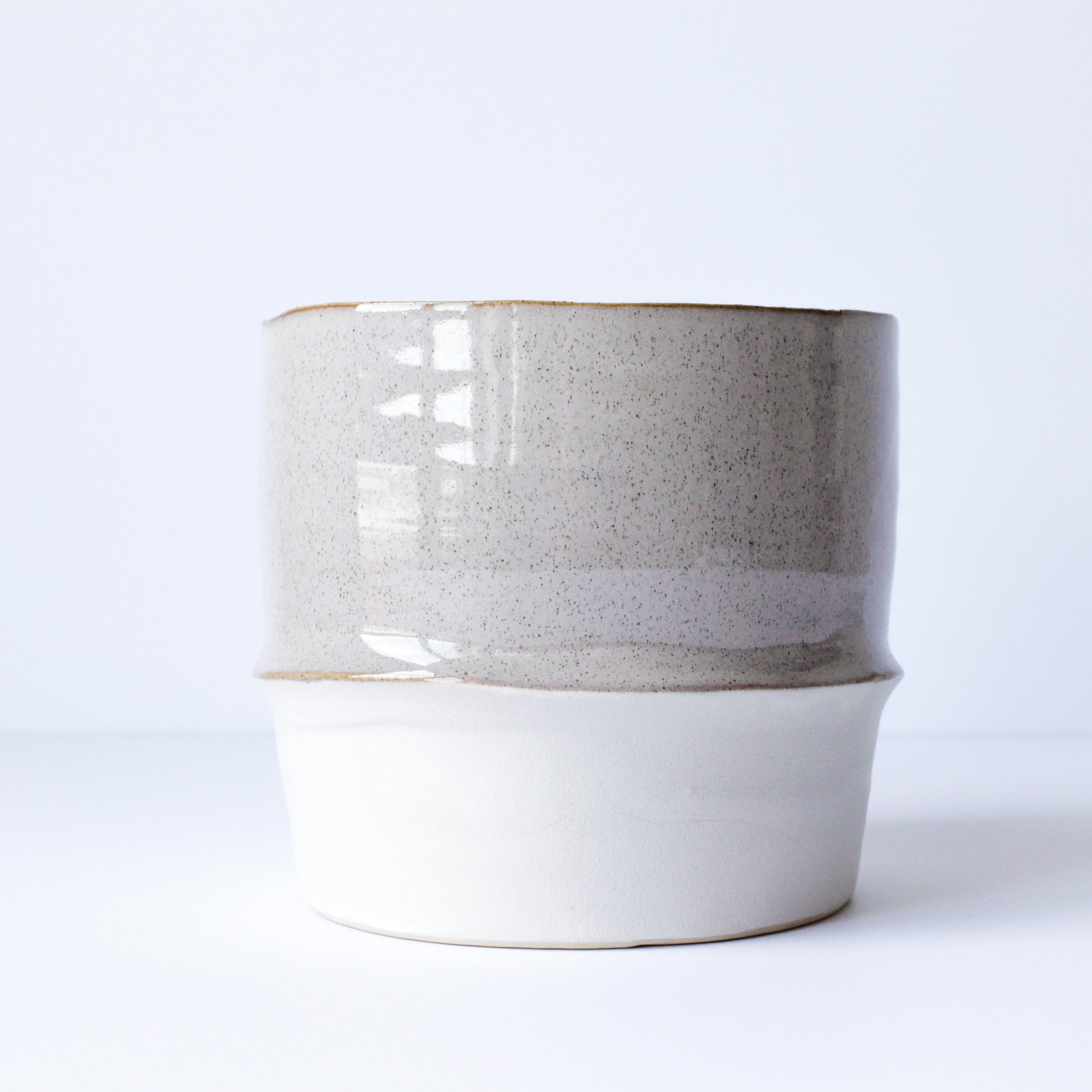 "6"" Pot in Speckled Sand & Textured Chalk"