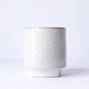 "5"" Pedestal Pot in Speckled Sand"