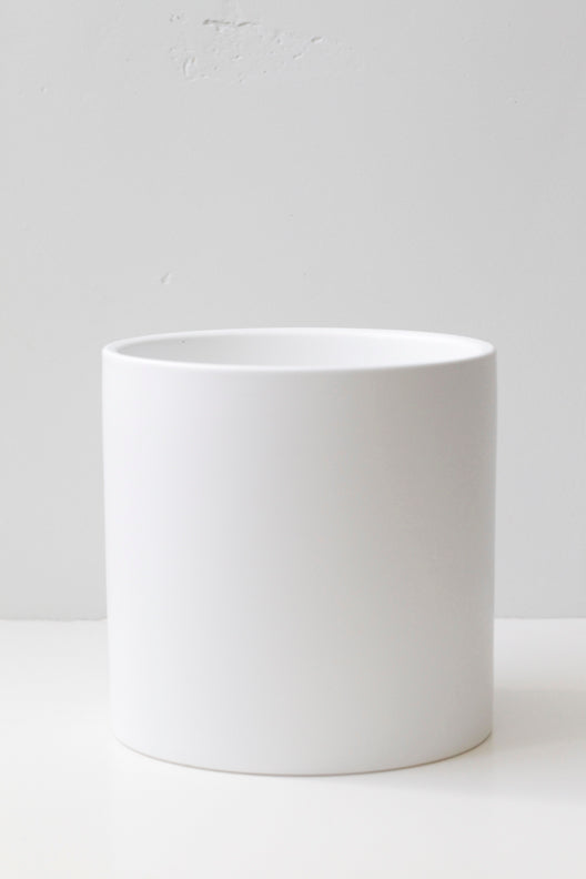 "6"" Cylindrical Pot in White"