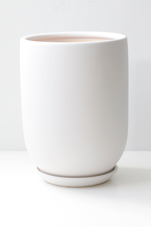 "6"" Ceramic Pot in White"