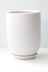 "6"" Tapered Ceramic Pot in White"