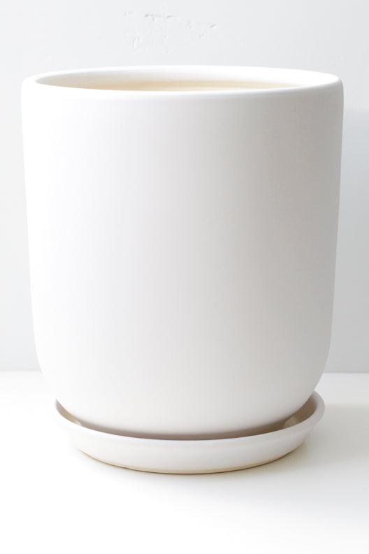 "8"" Tapered Ceramic Pot"