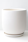 "10"" Tapered Ceramic Pot in White"
