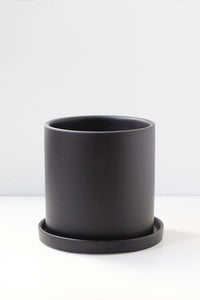 "4"" Cylindrical Pot in Black"