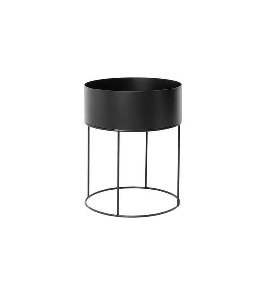 Plant Box Round in Black