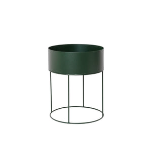 Ferm Living Plant Box Round in Dark Green