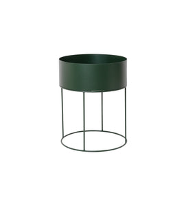 Plant Box Round in Dark Green